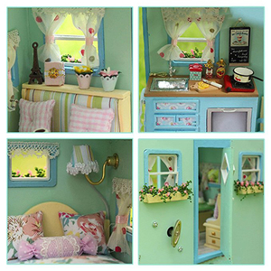 Image 4 - DIY Doll House Wooden Doll Houses Miniature Dollhouse Furniture Kit Toys for Children Gift  Time Travel Doll Houses A 016