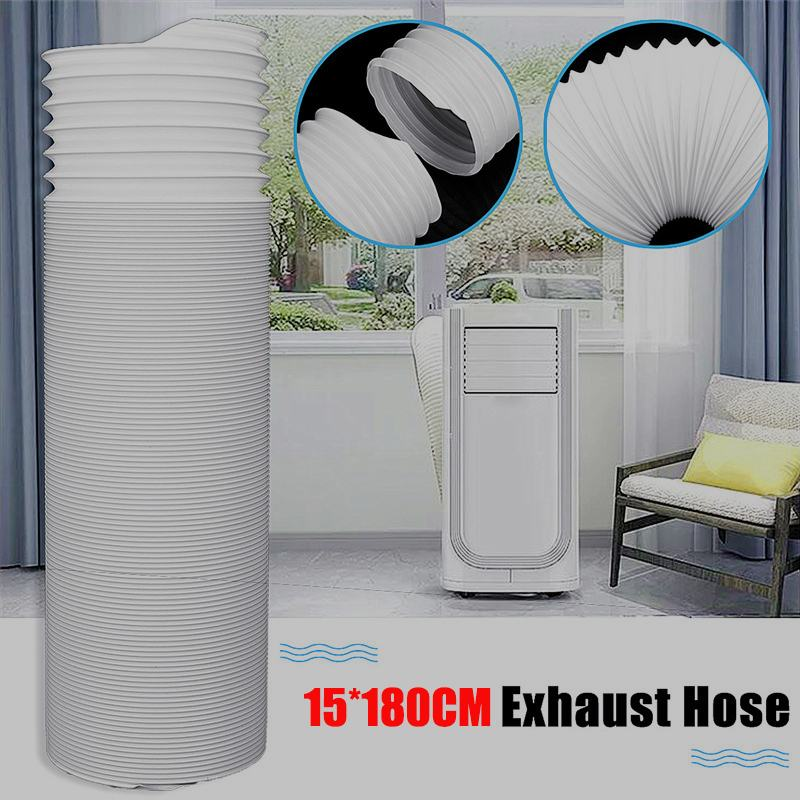 15X180cm Universal Exhaust Hose Tube For Portable Air Conditioners Vent Hose Part Repair White Exhaust Pipe Vent Hose Outlet15X180cm Universal Exhaust Hose Tube For Portable Air Conditioners Vent Hose Part Repair White Exhaust Pipe Vent Hose Outlet