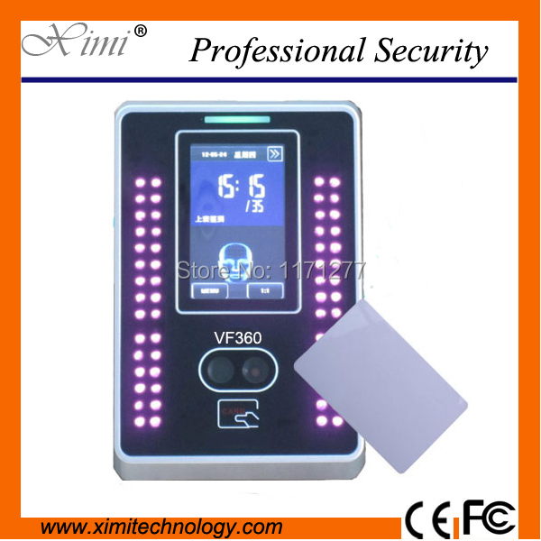 Linux system facial time attendance machine and access control TCP/IP 3 inch touch screen and 10000 IC card record free shipping