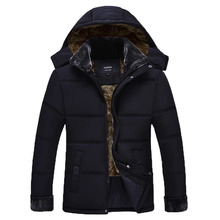 Бесплатная доставка 2016 новые зимние мужские куртки хлопка качества сгущать вниз хлопок куртка с капюшоном мужской осень парки размер M-3XL