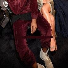 Neue HEIßE Hiphop Männer Samt Hosen Mode Streetwear Jogginghose Männer Dünne Justin Bieber Biker Jogger Lässig Rot Beute Hosen
