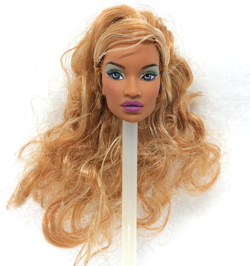 NK One Pcs Unique FR Doll Head  For FR Dolls 2002 Restricted Version Assortment Golden Hair Greatest DIY Reward For Women'  Doll 004Okay
