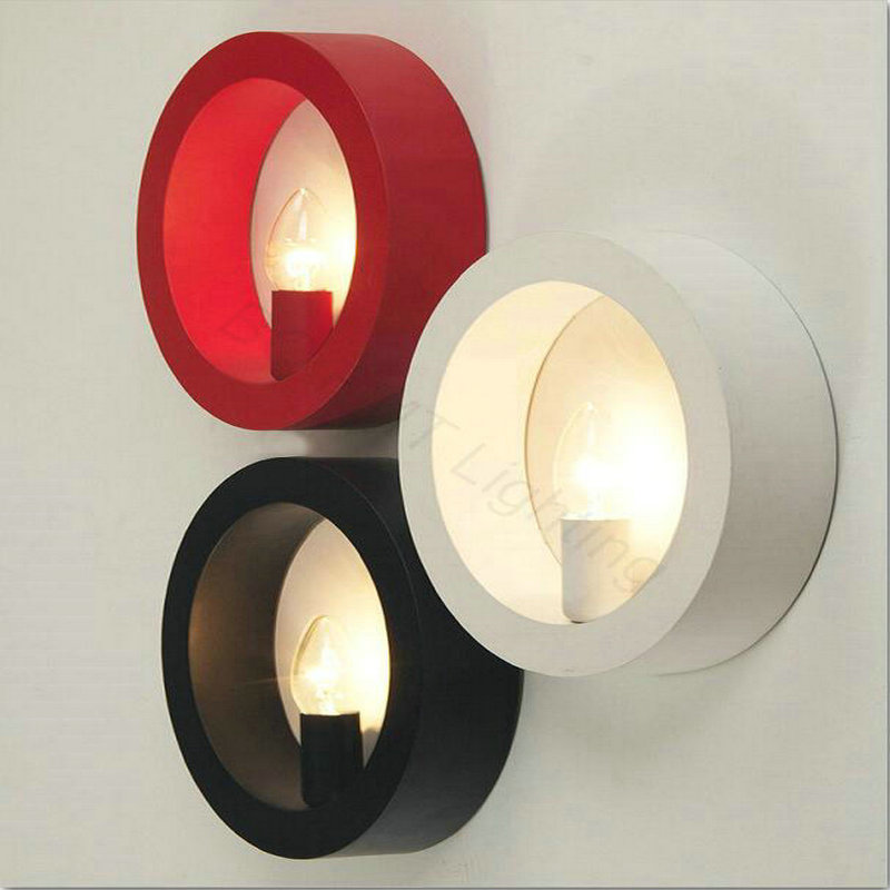 Round LED wall lamps modern simple Nordic creative art lighting corridor aisle bedroom living room study lamps Apliques de pared modern round led ceiling light personalized modern minimalist bedroom corridor balcony lighting creative study lighting