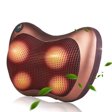 FOUAVRTEL Vehicle Massage Pillow Neck Massager Pillow Vibrator Electric Shoulder Back Heating Kneading Infrared therapy shiatsu angelruila neck massager shoulder back leg body massage pillow electric shiatsu spa home car equipment with led light heating