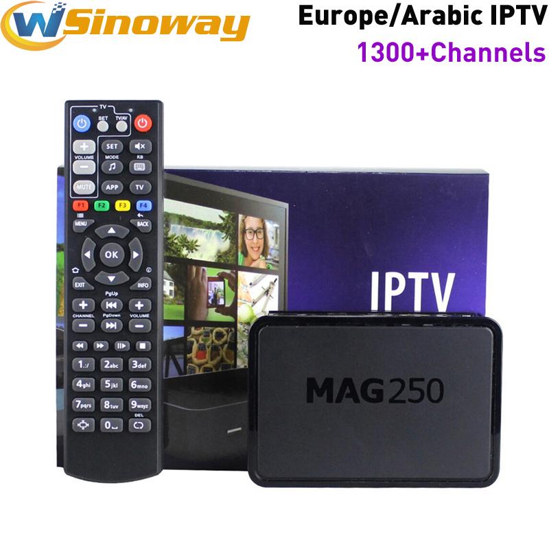 Prix pour Arabe iptv boîte MAG 250 même iptv italia MAG 254 IUDTV compte MAG250 ajouter IPTV italie France portugal Albanie Suède IPTV Europe