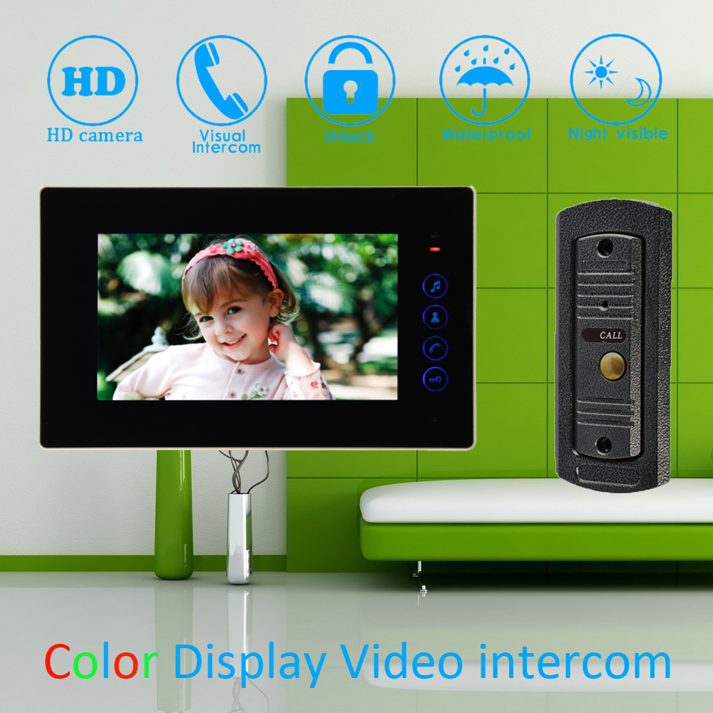 (1 Set) 7 inch Monitor Home Improvement Video Door Phone Home Security Digital Doorbell Door Access Control Intercom home improvement
