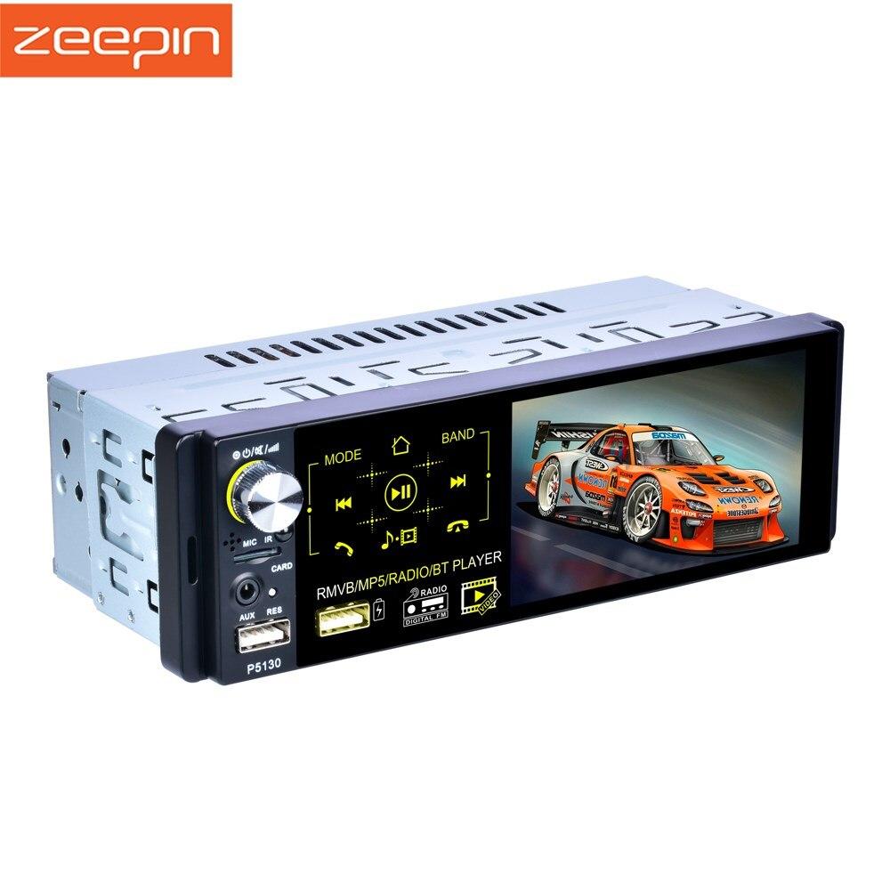 1din 4 pouces voiture lecteur MP3 Zeepin P5100 WiFi Bluetooth 4.1 prise en charge Radio Image inversée FM sans perte musique HD vidéo