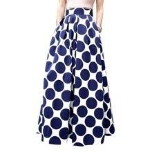 Для женщин юбки Лето г. облегающее платье в горошек Повседневное плюс Размеры Костюмы Новые поступления Повседневное купальник с высокой талией винтажный купальник с завышенной талией юбка белый, синий 3XL Saias