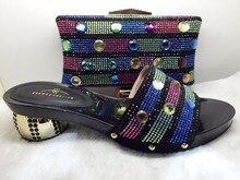 Black color Hot Sale African Wedding Shoes And Bag Set Fashion Adult font b Women b