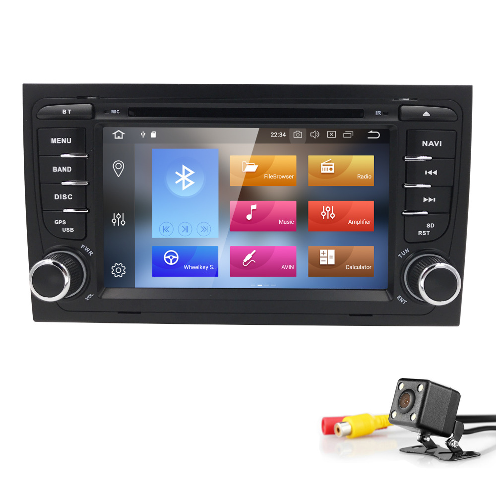 Autoradio 2 din Android 8.0 Car DVD Multimedia Player for Seat Exeo Audi A4 B6 B7 2002 2003 2004 2005 2006 S4 RS4 B9 8E 4GB+32GB