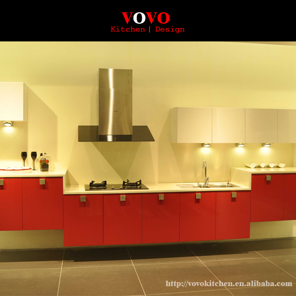 2016 New Red Lacquer Kitchen Cabinet Set-in Kitchen
