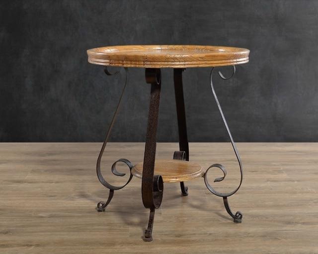 Estilo occidental rústico muebles de madera maciza, hierro forjado ...