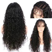 Malaysian Water Wave Lace Closure Wig Remy Size 4*4 Lace Closure Human Hair Wigs Pre Plucked Human Hair Wig May Queen