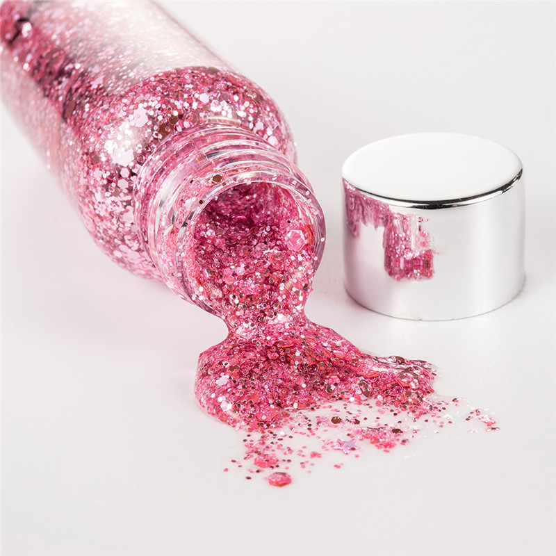 HANDAIYAN Eyes Sequins Glitter Powder Party Makeup Shining Sequined Face Eyes Lip Body Hair Glitter Flash Nails Cosmetic in Eye Shadow from Beauty Health
