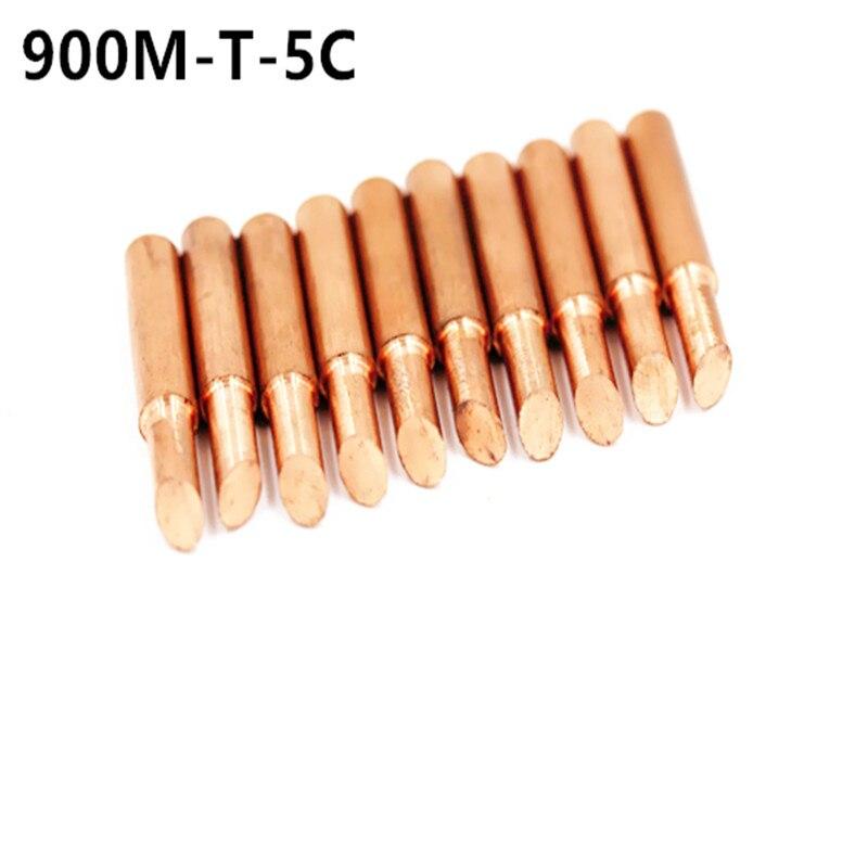 SZBFT 900M-T-5C Diamagnetic Copper Soldering Iron Tip Lead-free Solder Tip 933.376.907.913.951,898D,852D+ Soldering Station