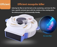 Solar Charging Flies Killer Electric Silent Rotating Flycatcher Catching Automatic Catching Flies Traps