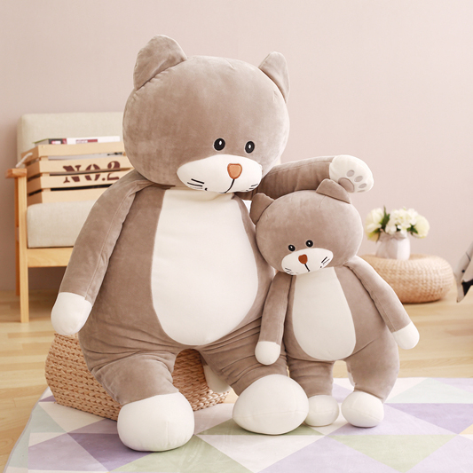все цены на  60/85cm New Arrival Stuffed Cat Down feathers Cute Animals Cartoon Plush Toy Soft  Pillow Stuffed Dolls Baby Toy Home Decoration  онлайн