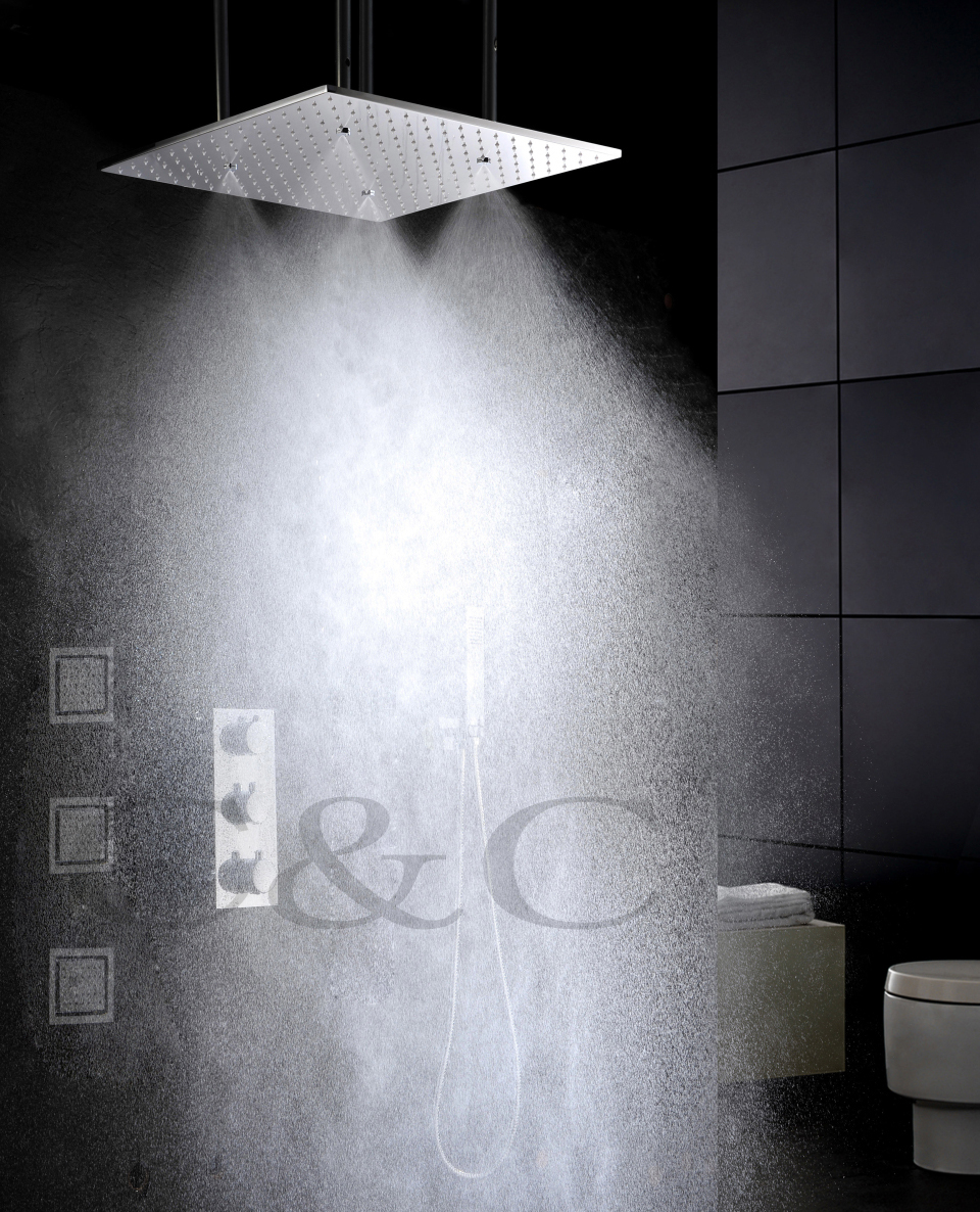 Mist And Rainfall Water Function 20 Inch Bath Shower Head 4 Inch ...