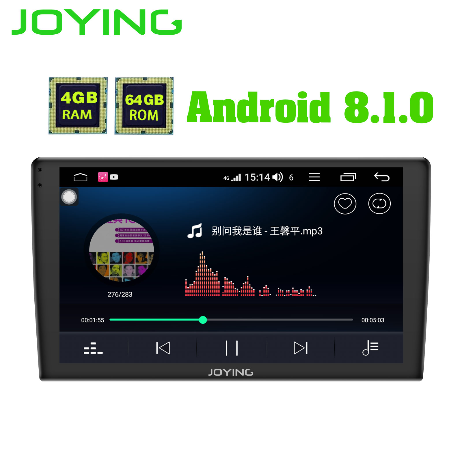 """10.1/"""" 2.5D Curved 2DIN Android 8.1 Quad-core RAM 1GB ROM 16GB Car Stereo Radio"""