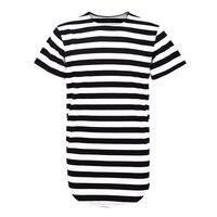 Mężczyzna Odzież Miejskiego Stylu Takla T Shirty Mężczyźni Rozszerzona Hip Hop Swag Koszulki Z Krótkim Rękawem T-shirt W Paski Ponadgabarytowych Tshirt Dla człowiek