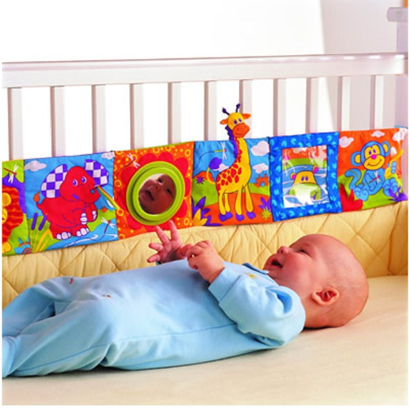 Baby Toys Cloth Books Infant Development Rustle Sound Children Educational Stroller Rattle Toy For Newborn 0-12 Month Bed Ruffle