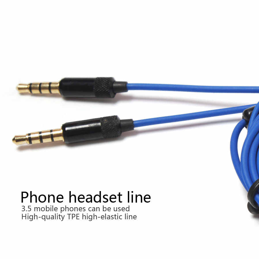 hight resolution of  3 5mm tpe high elastic diy earphone cable phone headset line with microphone switch repair replacement