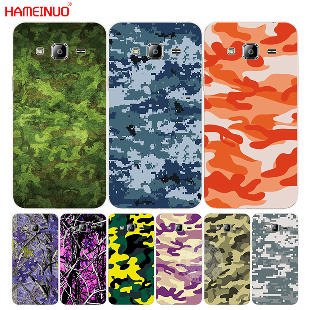 Hameinuo армия зеленый камуфляж camo крышка телефона чехол для Samsung <font><b>Galaxy</b></font> J1 J2 <font><b>J3</b></font> J5 J7 мини Ace 2016 2015
