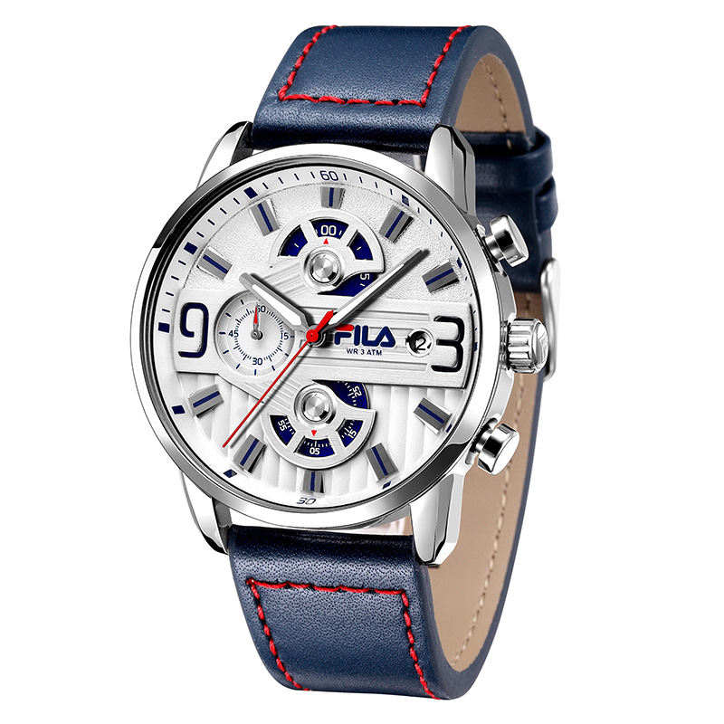 Fila watches men 39 s student table multi function three eye chronograph luminous waterproof for Fila watches