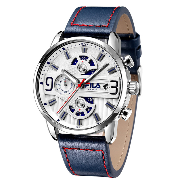 Fila watches men's student table multi-function three-eye chronograph luminous w