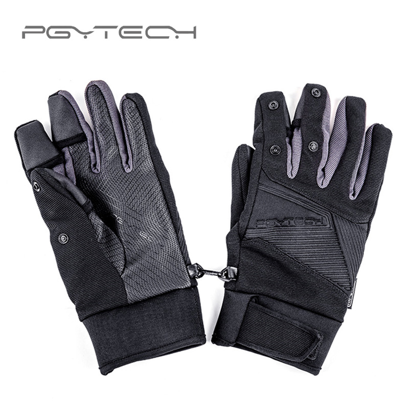 PGYTECH Photography Gloves Windproof Outdoor Mountaineering Ski Riding Flip Waterproof Touch Screen Multifunction Flying Gloves-in Drone Accessories Kits from Consumer Electronics    1