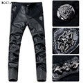 2016 New Arrival fashion tight leather pants personality male slim leather pants men's PU trousers