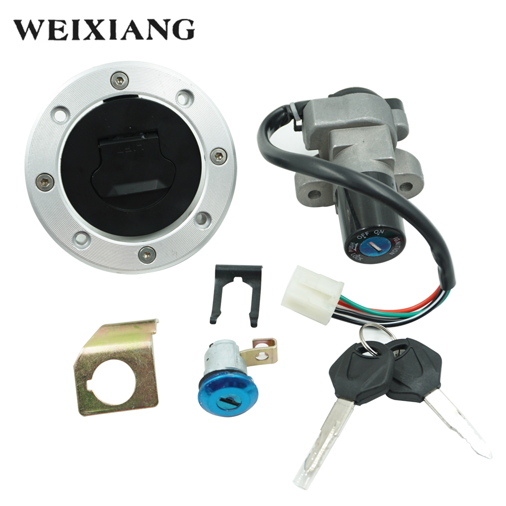 X Autohaux Motorbike Ignition Switch Fuel Tank Cap Cover Anti-theft Lock Key Set For Cg-125 Year-End Bargain Sale Electrical System