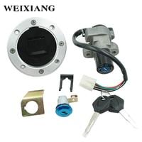 For Suzuki GSXR1000 GSXR600 GSXR750 Motorcycle Ignition Switch Assembly Fuel Tank Cover Lock Gas Cap Engine Hook Locking Keys