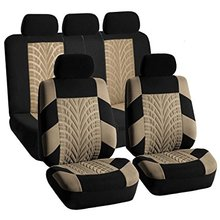 Compare Prices AODELAI High Quality Polyester Racing Car beige Seat Covers Universal Fit Car Seat Interior Accessories full 9pcs for most cars