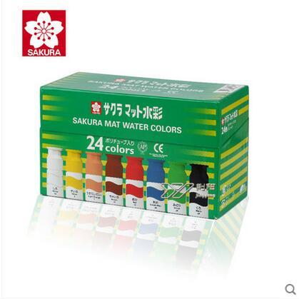 SAKURA Solid Water Color Paint 24 Colors Sets,Solid Water Color Illustration of paint cartoon watercolor цены