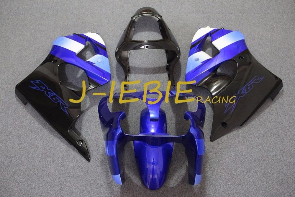 Blue black Injection Fairing Body Work Frame Kit for Kawasaki NINJA ZX6R ZX6 ZX 6 R 2000 2001 2002