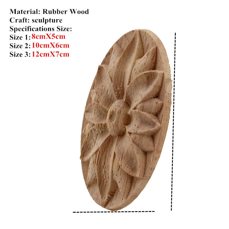 Vzlx Wood Lique Decal Fl Onlay Vintage For Wall Doors Cabinet Furniture Home Decor Decoration