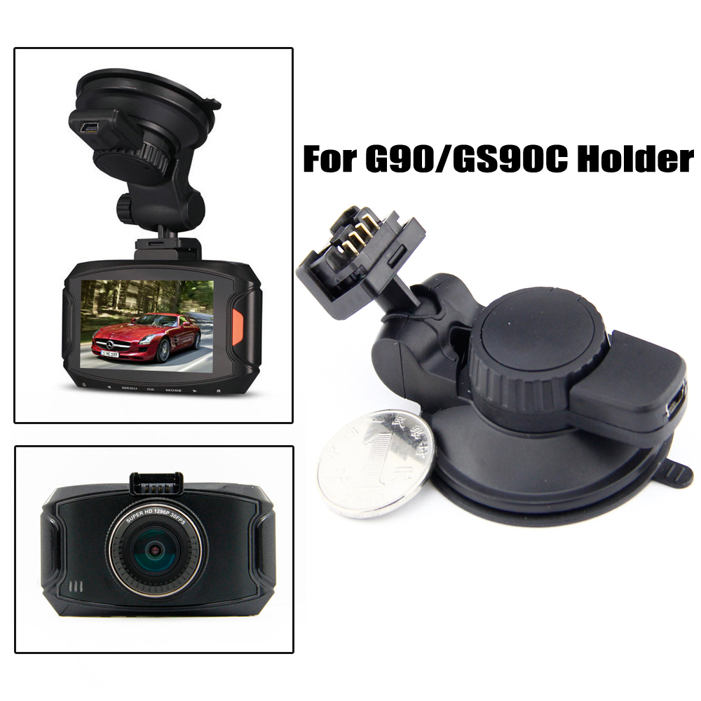 XYCING Car DVR 360 Degree Rotating Suction Cup Bracket Car Holder 4 Pin Connector for G90/GS90A/GS90C DVR Cameras 360 degree rotary snake shaped wide car holder w suction cup for smartphones black