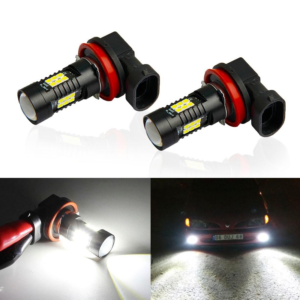 2pcs H8 H11 LED Car Lights HB3 9005 HB4 9006 1200LM LED Bulbs 6000K Daytime Running Light DRL 12V Fog Light Driving Lamp For Car
