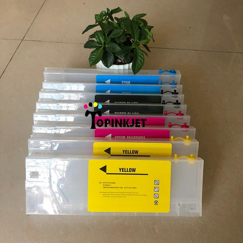 220 ml 8 unids/lote /cartucho de tinta de recarga vacío para Roland/Mimaki/Mutoh impresora de inyección de tinta cartucho recargable