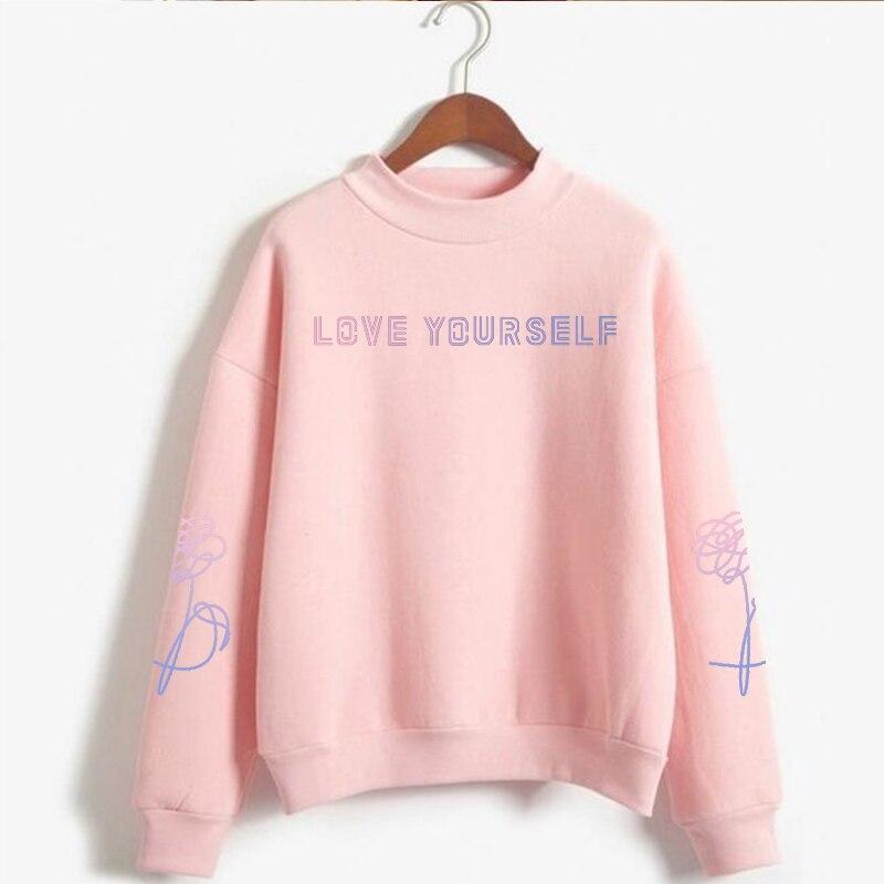 2019 rose fille rose sweat-shirt fleur sweat-shirt, Love Yourself répondre sweat-shirt, sweat à capuche, Love Yourself ère