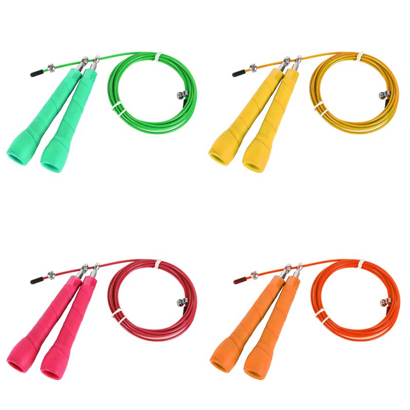 Metal Wire Speed Skipping Adjustable Jump Rope Fitness Gym Exercise Cardio
