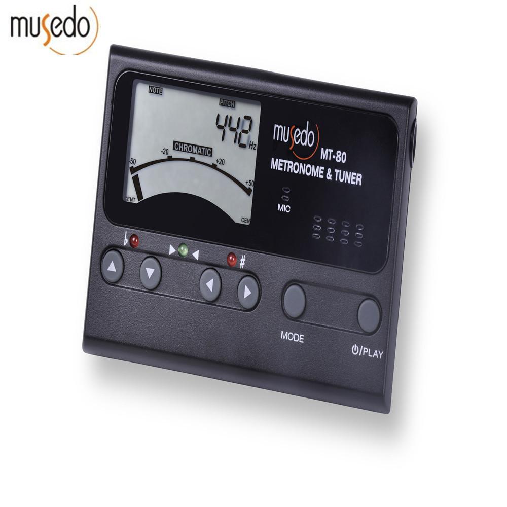 Musedo MT-30 MT-40 MT-60 MT-80 Professional Precision LCD Guitar Metronome  Tone Generator Guitar Tuner