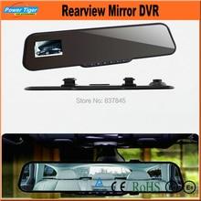 """Hd1080p 2.7 """"coche Espejo Retrovisor de La Cámara de la Rociada Del Vehículo Del Coche DVR Grabador de Vídeo Espejo Coche DVR CON el g-sensor de Visión Nocturna"""