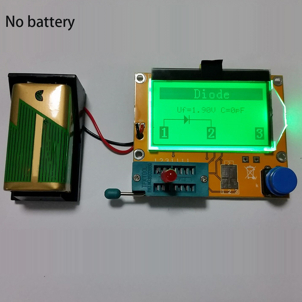 Image 3 - Imaging Diode MOSFET Test Hook ESR Transistor Tester Capacitor Resistor Multifunctional LCD For LCR T4-in Multimeters from Tools