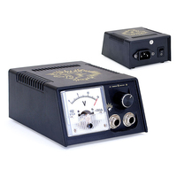 BJT Black Casing Golden Lion Dial Pointer Show Tattoo Power Supply Pro Digital Tattoo Power Supply with Plug Top Quality