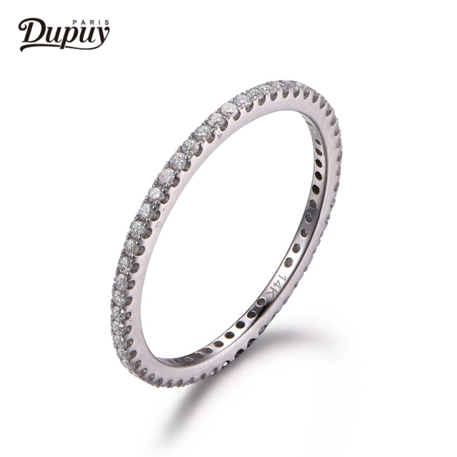 DUPUY Danity Wedding Ring Full Eternity Pave Diamonds Ring Match Ring 14K White Gold Ring Bridal Band Promise Band B0002D