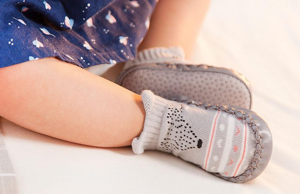New Spring Autumn Fashion Design Unisex Cartoon Newborn Baby Girls Boys Anti-Slip Socks Slipper Bell Shoes Boots Keep Warm #30