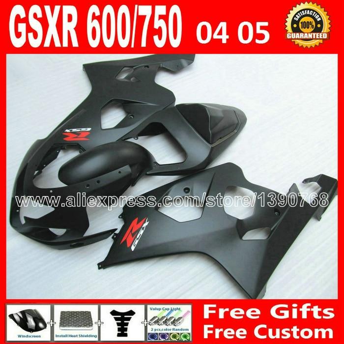 Free for flat black 2004 2005 SUZUKI moto GSXR 600 750 custom fairing kit K4  gsxr600 ARC gsxr750 fairings kits 04 05  285 fairings set for 2006 2007 suzuki gsxr600 gsxr750 06 07 purple black fairing kit gsxr600 gsxr750 k6 vf71