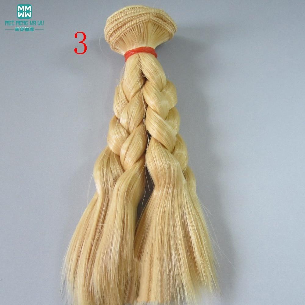 1 unids 15 cm y 25 cm * 100 CM trenza peluca Muñeca pelucas / pelo - Muñecas y peluches - foto 3